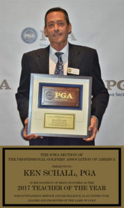 Ken Schall - 2017 Iowa PGA Teacher of the Year.
